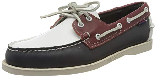 Sebago Portland Spinnaker, Náuticos para Hombre, Multicolor (Navy/Red/White 972), 41 EU