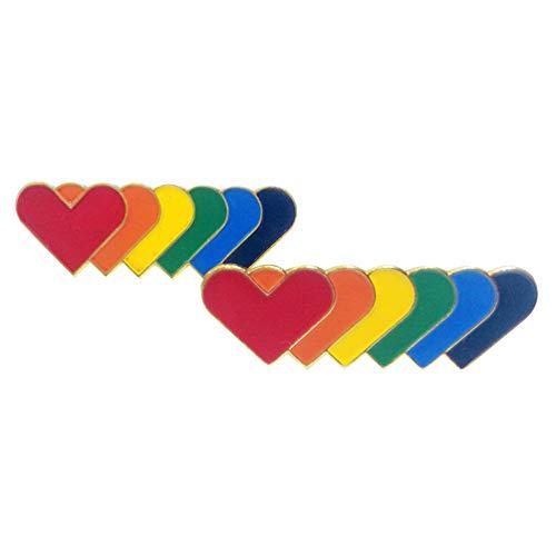SUPVOX 10 Piezas Lindo Broche alfileres corazón Arco