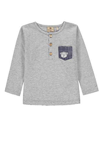 Bellybutton mother nature & me Jungen T-Shirt 1/1 Arm Langarmshirt, Grau (Alcatraz Melange|Gray 8856), (Herstellergröße: 128)