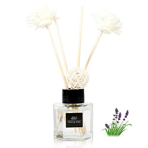 Lavender Reed Diffuser Set,Bedroom Bathroom Office Home Fragrance Gift,Pregnant women, babies,60 ml/ 2.1 oz