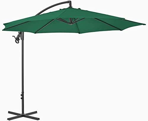 Sombrillas Cubierta de sombrilla voladiza, utilizada para jardín, césped, jardín, vida al aire libre, cubierta de sombrilla de patio, cubierta de sombrilla de poste de acero de 300 cm marquesinas y