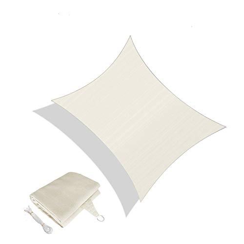 Sunnylaxx Vela de Sombra Rectangular 4 x 6 Metros, toldo Resistente y Transpirable, para Exteriores, jardín, Color Crema