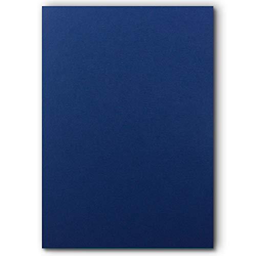 50 DIN A5 Einzelkarten Papierbögen - Dunkelblau - 240 g/m² - 14,8 x 21 cm - Bastelbogen Tonpapier Fotokarton Bastelpapier Tonkarton - FarbenFroh