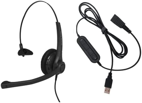 discount Smith Corona high quality VOICELYNC MONAURAL Headset W/USB-A 21M online sale PC Adapter Cord outlet sale