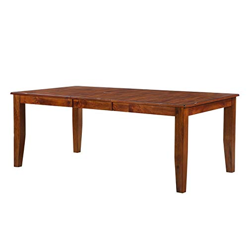 Pemberly Row 60' Dining Table with Removable Leaf in Brown
