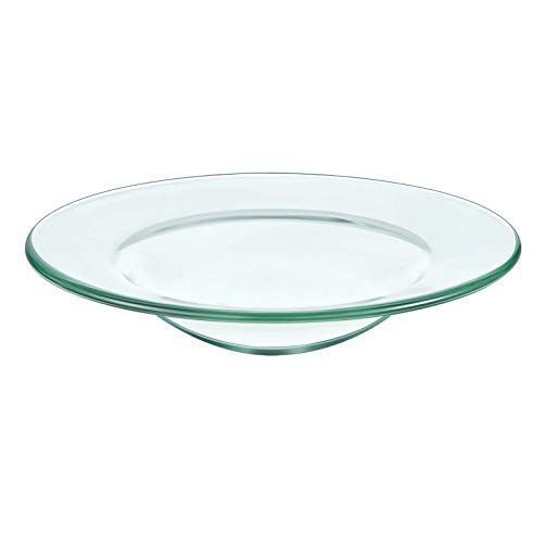 DGQ 4.5' Replacement Oil Warmer Dish Wax Melt Warmer Liner Dish Round Glass Dish Candle Wamer Bowl Plate Wax Tray for Scented Wax Aroma Therapy Lamp Electric Lamps Tart Warmers Wax Melter Wax Burner