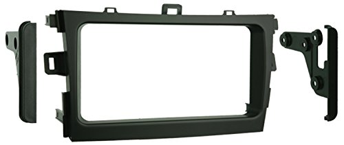 Metra 95-8223S Double DIN Installation Kit for 2009-up Toyota Corolla Vehicles (Black)