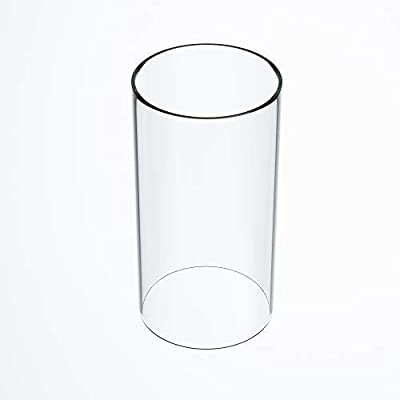 """TLLAMP Large Size Hurricane Candle Holder Glass, Glass Cylinder Open Both Ends, Open Ended Hurricane, Glass Lamp Shade Replacement (2.5"""" Wide x 8"""" Tall) Multiple Specifications from TLLAMP"""