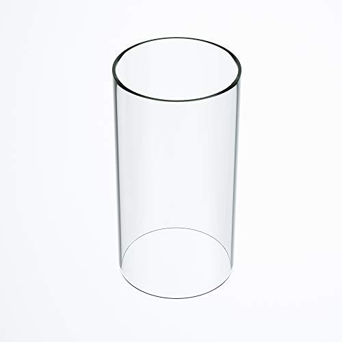 TLLAMP Large Size Hurricane Candle Holder Glass, Glass Cylinder Open Both Ends, Open Ended Hurricane, Glass Lamp Shade Replacement (3.5' Wide x 8' Tall) Multiple Specifications