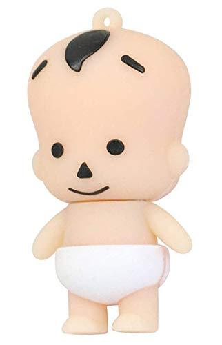 Bambino Pannolino Bianco Nuovo Nato 16 GB - Baby White Diaper New Born - Chiavetta Pendrive - Memoria Archiviazione dei Dati - USB Flash Pen Drive Memory Stick