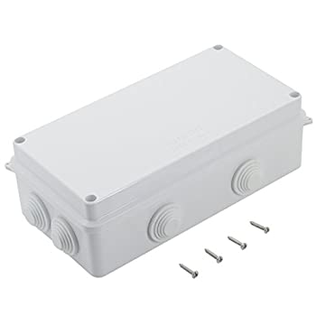 LeMotech ABS Plastic Dustproof Waterproof IP65 Junction Box Universal Electrical Project Enclosure White 7.9 x 3.9 x 2.8 inch  200 x 100 x 70 mm