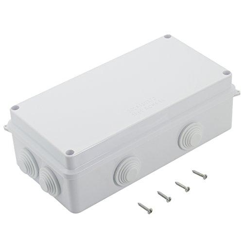 LeMotech ABS Plastic Dustproof Waterproof IP65 Junction Box Universal Electrical Project Enclosure White 7.9 x 3.9 x 2.8 inch (200 x 100 x 70 mm)