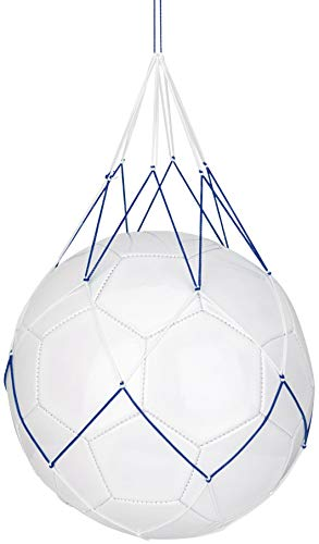 Schreuders Sr Deq Red para 1 Bolsa de balones Fútbol, Adultos Unisex, Multicolor (Blanco/Azul), Talla Única