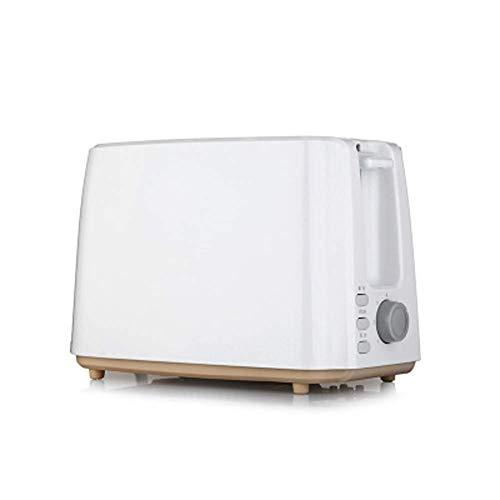DYB Kompakter schneller Brotbackautomat, Multi-Kochfunktion & Grill, einstellbare Temperaturregelung, Timer - 750 W, Weiß