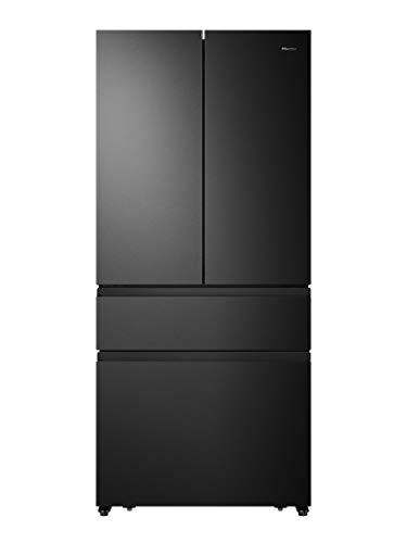 Hisense RF540N4SBF2 French Door Kühl-Gefrierkombination/ NoFrostPlus/ Inverter-Kompressor/ Multiflow 360°/ SuperCool/ 181,7 cm/ Kühlteil 302 l/ Gefrierteil 178 l/ 40 dB/ 310 kWh/Jahr/ Schwarz