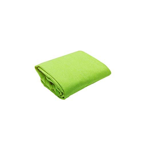 MIAOQI Puf para niños y adultos, funda de algodón suave y lino con cremallera para almacenamiento (sin relleno) para organizar juguetes de peluche (70 x 80 cm (lino de algodón), verde).