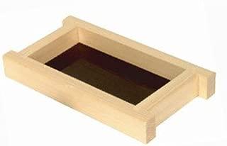 Thunder Group Shiraki Wood Shoyu Sauce Dispenser Tray, 4-1/2 by 8-Inch