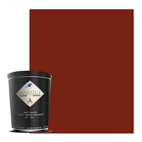 Waschbare Acrylfarbe, matt – Wände und Decken – 1 l, Rot & Rosa – Karminrot
