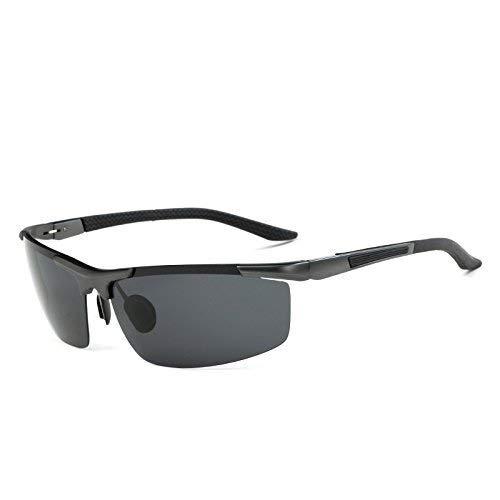 Hancoc Gafas de sol polarizadas para hombre, de aluminio, magnesio, deportes, para equitación al aire libre, conducción y pesca