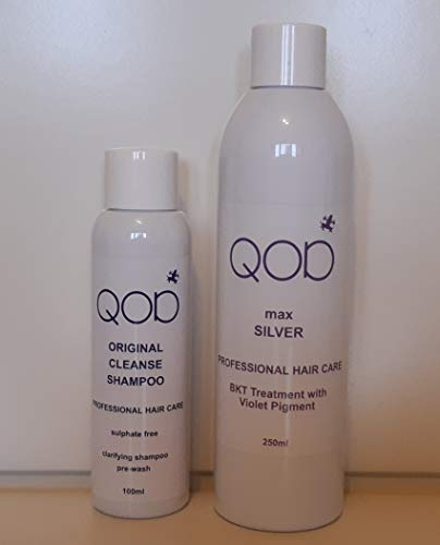 Organic Brasilianische Keratin QOD MAX SILVER Haarglättung 100% Formaldehydfrei 2er Kit (1x100ml+1x250ml)