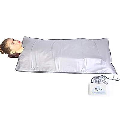 AYNEFY Far in-frared Sauna Blanket, FIR Sauna Blanket Professional Body Shape Slimming Fitness Digital Sauna Heating Machine with Remote Control for Home SPA Beauty Salon 70.47 x 31.69 inch (#1)