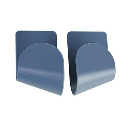 Weilifang 1 par Pot Tapa del Estante de plástico Pan Organizador Soporte de Pared montado en la Pared Colgante de la Cocina del sostenedor, Azul