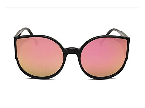 LOPIXUO Gafas de sol Gafas de sol para mujer, con revestimiento, espejo reflectante, gafas de sol para mujer, gafas deconducción conmonturanegra vintage, rosa