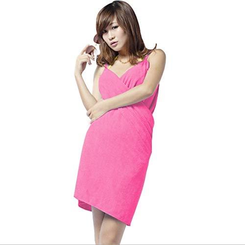 Heliansheng Toalla de baño mágica de Secado rápido para niñas, Albornoz de Playa para Mujer, Vestido de 5 Colores-Rosa Rojo
