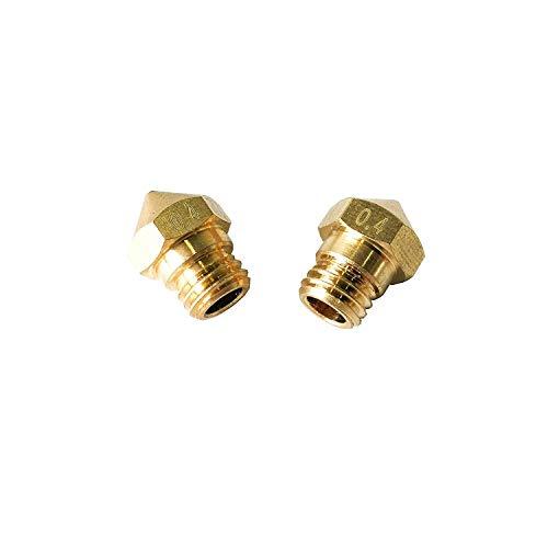 UIOTEC 2PCS 3D Printer Brass MK10 Extruder Nozzle 0.4mm M7 Thread for CTC Flashforge Dremel Wanhao 1.75mm Filament ABS PLA*