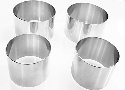 Plating Forms Stainless Steel Ring Mold Sets (4 Count) (3.5