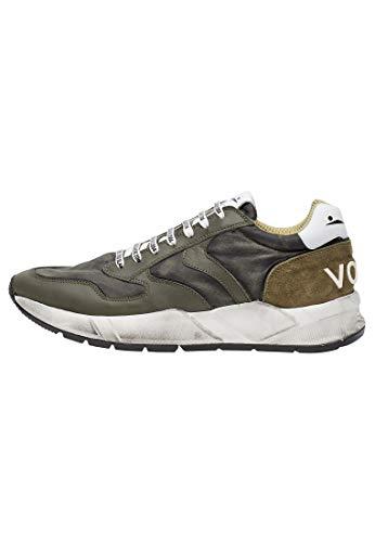 VOILE BLANCHE ARPOLH-Sneaker in Pelle e Nylon Effetto Dirty Militare 41