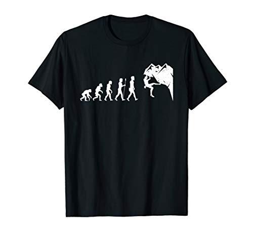 Bouldern Evolution T Shirt Kletter Halle Seil Geschenkidee