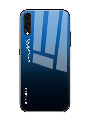 Hishiny Coque Huawei P20, Coque Silicone Cover P20 Lite Pro Housse de Protection Case Anti-Choc Étui Verre trempé backcover Coque Housse pour Huawei P20 Pro Lite (Noir, Huawei P20)
