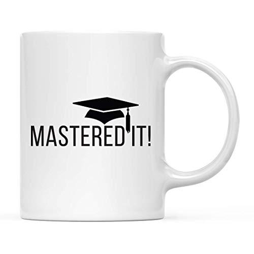 ¡Regalo de taza de café de graduación, Master It !, 1 paquete de tazas para estudiantes graduados de la escuela de la clase de 2019, Diploma de posgrado de Maestría MBA, Felicitaciones de grado académ