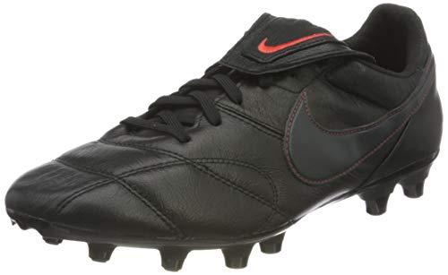 Nike Unisex Premier II FG Football Shoe, Black/Dark Smoke Grey-Chile Red, 44 EU