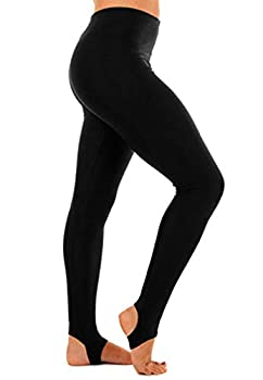 Rimi Hanger Girls Children Kids Stirrup Leggings Dance Gymnastics Shiny Nylon Pants Black 11-13 Years
