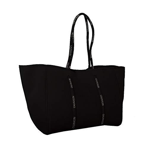 Calvin Klein Bolsa de Lona Piscina mar Gimnasio Hombro Fondo rígido extraíble Articulo K9KWSU0111 Scuba Tote - cm. 38 x 30 x 25, BEH Pvh Black, Unica - One Size