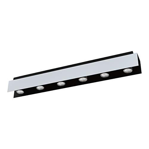 EGLO VISERBA Lámpara de techo, 5 W, Weiss-aluminium, Schwarz