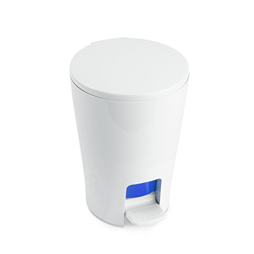 Tatay Papelera Baño con Pedal Diabolo, 5L de Capacidad, de Polipropileno, Interior Extraíble, Libre de BPA, Color Azul, Medidas 19 x 21 x 28.2 cm