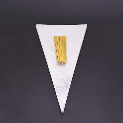 OFFicial mail order 50Pcs Set Transparent Cone Candy Bag Birthday Sweet Limited time trial price Ce Diy Party