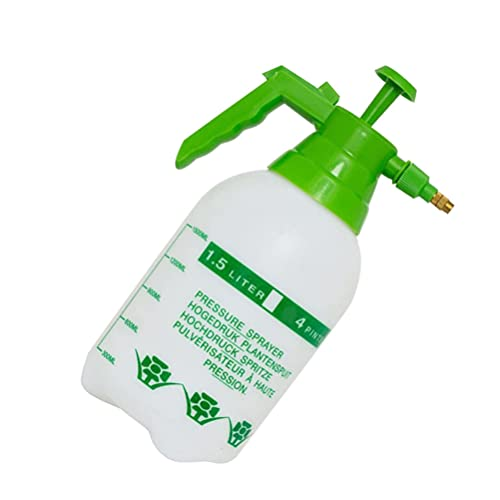 Yardwe Manual Garden Sprayer 1. 5L Handheld Pump Pressure Water Sprayers Garden Watering Pot Plastic Spray Bottle for Lawn and Garden