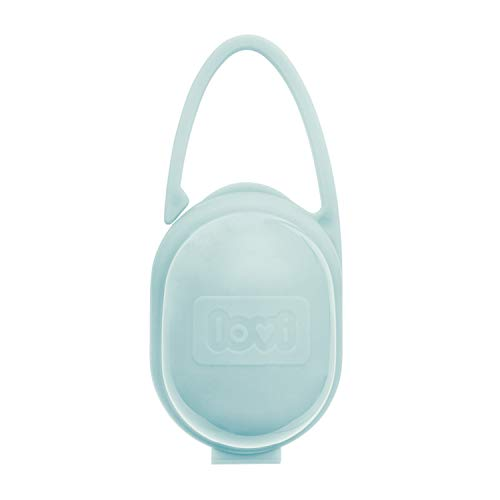 LOVI Schnuller-Box | Schnuller Vorratsbehälter BPA frei | zwei Arten der Befestigung | universal & praktisch | Ideal als Aufbewahrungskoffer für unterwegs | Mint