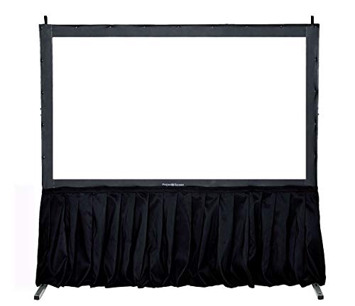 """Visual Apex Projector Screen with Stand Black Skirt Drape Kit - 29"""" H x 156"""" W. Standard Size Presentation Projection Screen Skirt Kit (Screen not Included)"""