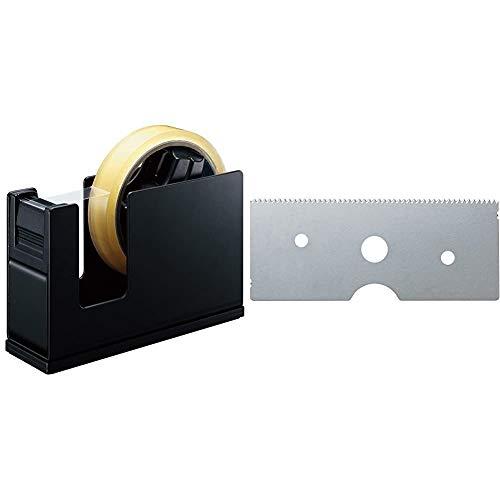 【セット買い】コクヨ テープカッター カルカット スチール 黒 T-SM111D & テープカッター カルカット用 替刃 T-SHA1