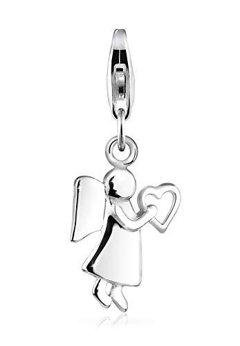 Elli Charm Damen Charm Schutzengel Herz Himmel in 925 Sterling Silber