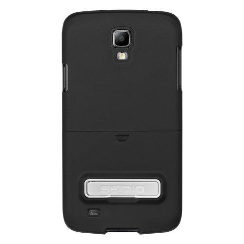 Seidio CSR3SSG4AK-BK SURFACE Case with Metal Kickstand for use with Samsung Galaxy S4 ACTIVE - Carrying Case - Retail Packaging - Black