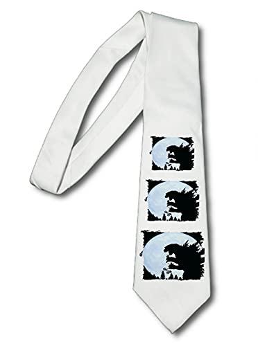 MERCHANDMANIA Corbata Elegante Dinosaurio Extraterrestre Broma Suave Poliester