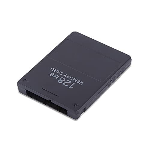 Hakeeta Speicherkarte/Memorykarte für PS2, 8M-256M Spielspeicherkarte Hohe Kapazität Memorykarte für Sony Playstation 2 PS2, Spiele-Zubehör zum Speichern von Spielen und Informationen(128M)