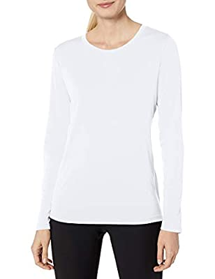 Hanes Women's Sport Cool Dri Performance Long Sleeve Tee, White, 2X Large