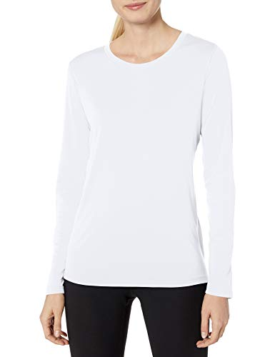 Hanes Women#039s Sport Cool Dri Performance Long Sleeve Tee White 2X Large